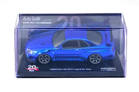 Kyosho Autoscale Mini-Z Nissan Skyline GTR R34 Chrome Blue 20th Anniversary*